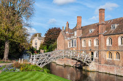 Mathematical Bridge, Cambridge, England Stock Images