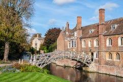 Mathematical Bridge, Cambridge, England Stock Images