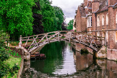 Mathematical bridge, Cambridge, UK Royalty Free Stock Photo