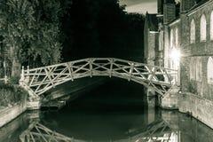 Mathematical Bridge by night royalty free stock photo
