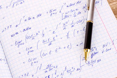 Mathematical calculation Royalty Free Stock Image