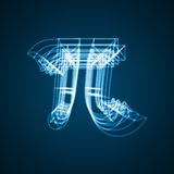 The mathematical constant Pi Stock Image