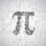 The mathematical constant Pi Stock Photo