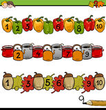 Mathematical counting activity vector illustration