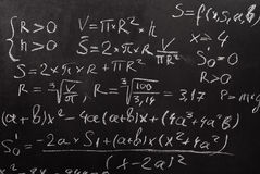 Mathematical equation Stock Photography