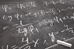 Mathematical equation Royalty Free Stock Photo