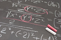 Mathematical equation Royalty Free Stock Image