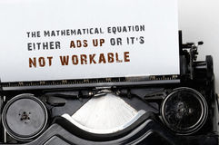 Mathematical equation Royalty Free Stock Photos