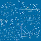 Mathematical equations and formulas Stock Image