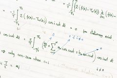 Mathematical equations Royalty Free Stock Image
