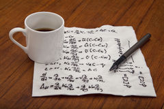 Mathematical equations of physics Stock Photography