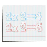 A mathematical example of hand-drawn in 3D style. For design in advertising royalty free illustration