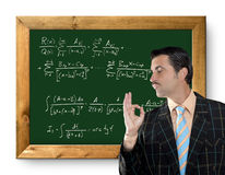 Mathematical formula genius geek Royalty Free Stock Photos