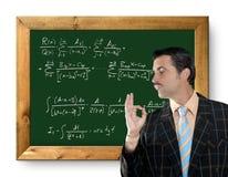 Mathematical formula genius geek. Mathematical formula genius tacky geek easy resolve positive gesture Royalty Free Stock Photos