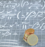 Mathematical formula for making money Stock Image