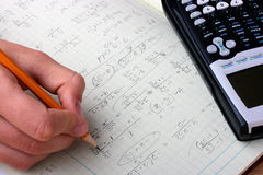 Mathematical formulas Royalty Free Stock Images