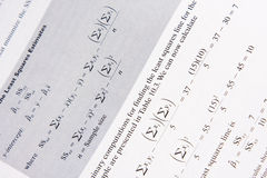 Mathematical Formulas Stock Image