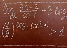 Mathematical formulas Stock Photos