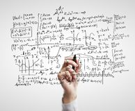 Mathematical formulas Royalty Free Stock Photo
