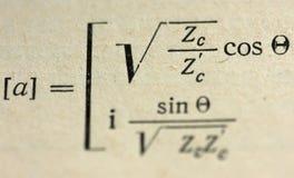 Mathematical formulas Royalty Free Stock Photo