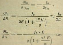Mathematical formulas Royalty Free Stock Photography