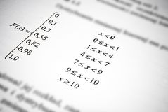 Mathematical formulas and calculations. Math education concept. Stock Photos
