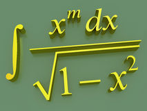 Mathematical formulas. Stock Image