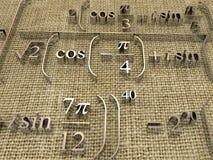 Mathematical formulas. Royalty Free Stock Photography