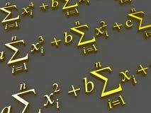 Mathematical formulas. Royalty Free Stock Images