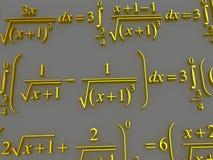 Mathematical formulas. Stock Photos