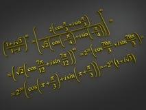Mathematical formulas. Royalty Free Stock Photo