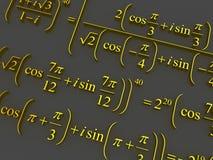 Mathematical formulas. Stock Photo