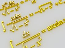 Mathematical formulas. Royalty Free Stock Photos