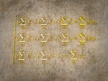 Mathematical formulas. Royalty Free Stock Image