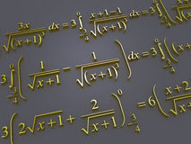 Mathematical formulas. Royalty Free Stock Images