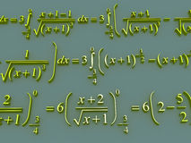 Mathematical formulas. Royalty Free Stock Image