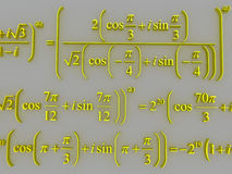 Mathematical formulas. Royalty Free Stock Photos