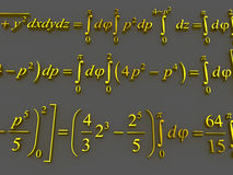 Mathematical formulas. Stock Photography