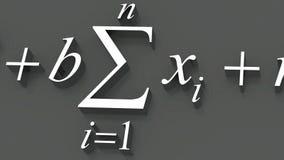 Mathematical formulas. stock video footage