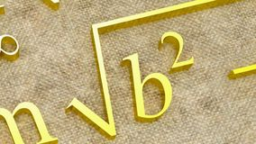 Mathematical formulas. stock footage