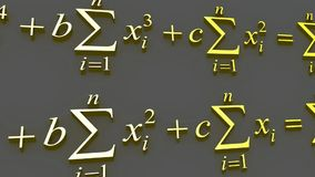 Mathematical formulas. stock footage