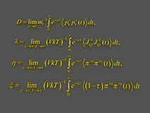 Mathematical formulas. Stock Image