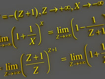 Mathematical formulas. Stock Photo