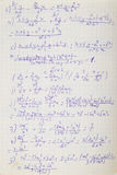 Mathematical formulas. Squared paper with mathematical formulas Royalty Free Stock Images