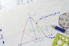 Mathematical function graph Stock Photos