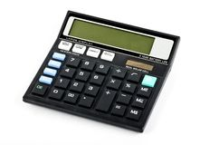 A mathematical general purpose solar calculator. On a white background royalty free stock photos