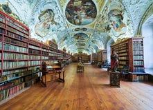 PRAGUE, CZECH REPUBLIC - SEPTEMBER 6, 2017. Mathematical hall of the Strahov convent library, Prague, Czech Republic. Mathematical hall of the Strahov convent Stock Photos