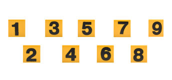 Mathematical numbers Stock Photo