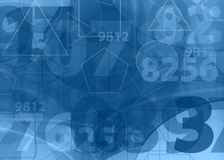 Mathematical  numbers blue background Royalty Free Stock Image