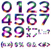 Mathematical Numbers and Signs Set Royalty Free Stock Photo